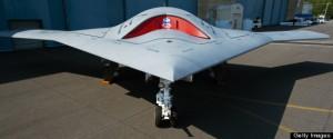 The US Navy's  Northrop Grumman X-47B, a