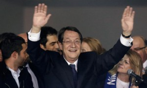 Nicos Anastasiades newly elected president of Cyprus