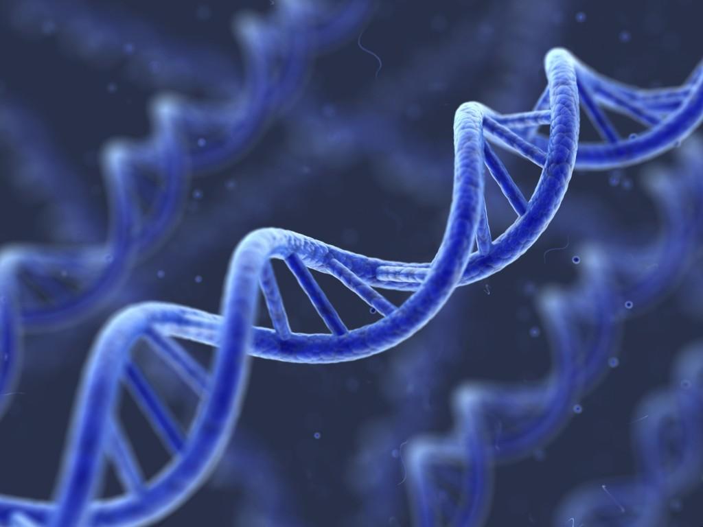 DNA-strang-blue