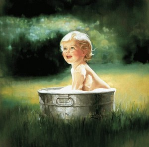 beautiful-kid-bath-painting