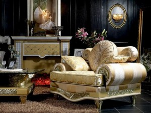 Luxury-armchair-with-golden-motifs