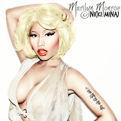 Nicki Minaj often imitates the Marilyn Monroe look