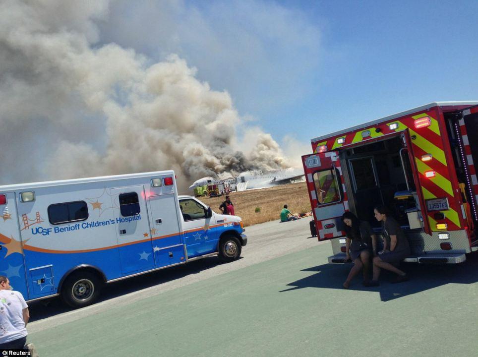 FOTO 7 tekkis tulekahju San Fransisco lennuõnnetus oli lavastus?