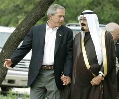 PRINCE BANDAR AND GEORGE  BUSH