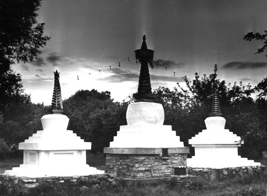 Estonian stupas. Photo taken in 1985