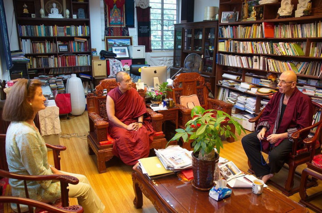 Vaartnou visiting the BuddhistDoors