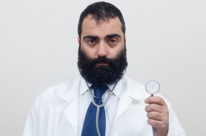 Young beard male doctor