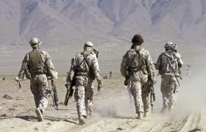 File handout of Australian Special Forces task group soldiers take part in training exercise in Afghanistan