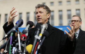 U.S. Senator Paul discusses his class action lawsuit against U.S. President Obama over NSA spying revelations in Washington
