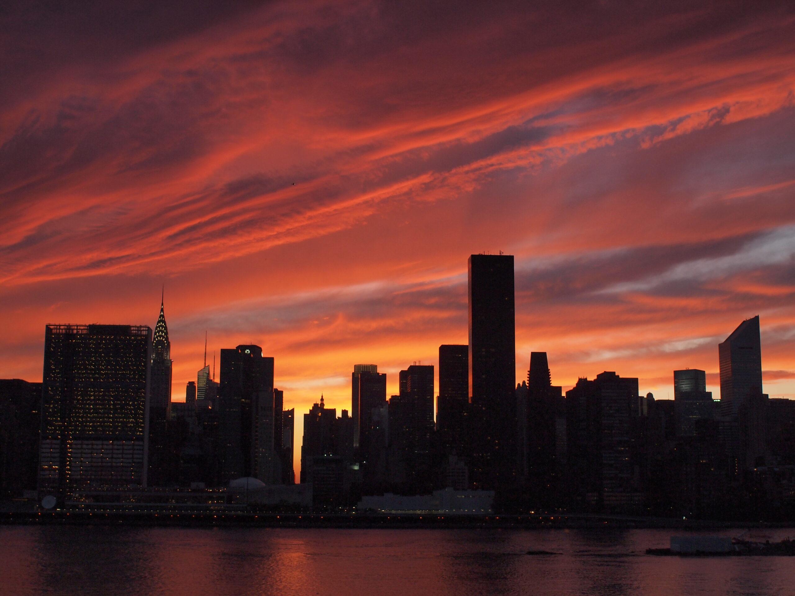 картинки города на закате дня смех
