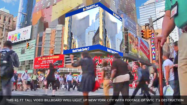 ReThink911 Digital Billboard NYC