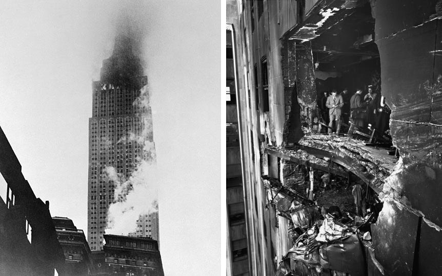 Back   Gallery F...B 52 Crash Empire State Building