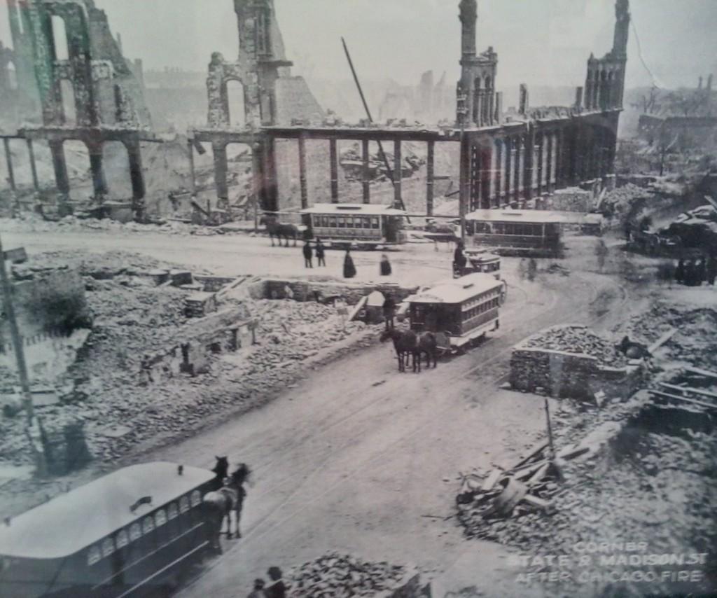Chicago peale suurt tulekahju aastal 1871