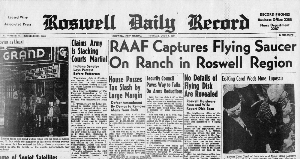 Roswell Daily Record (8. juuli 1947)