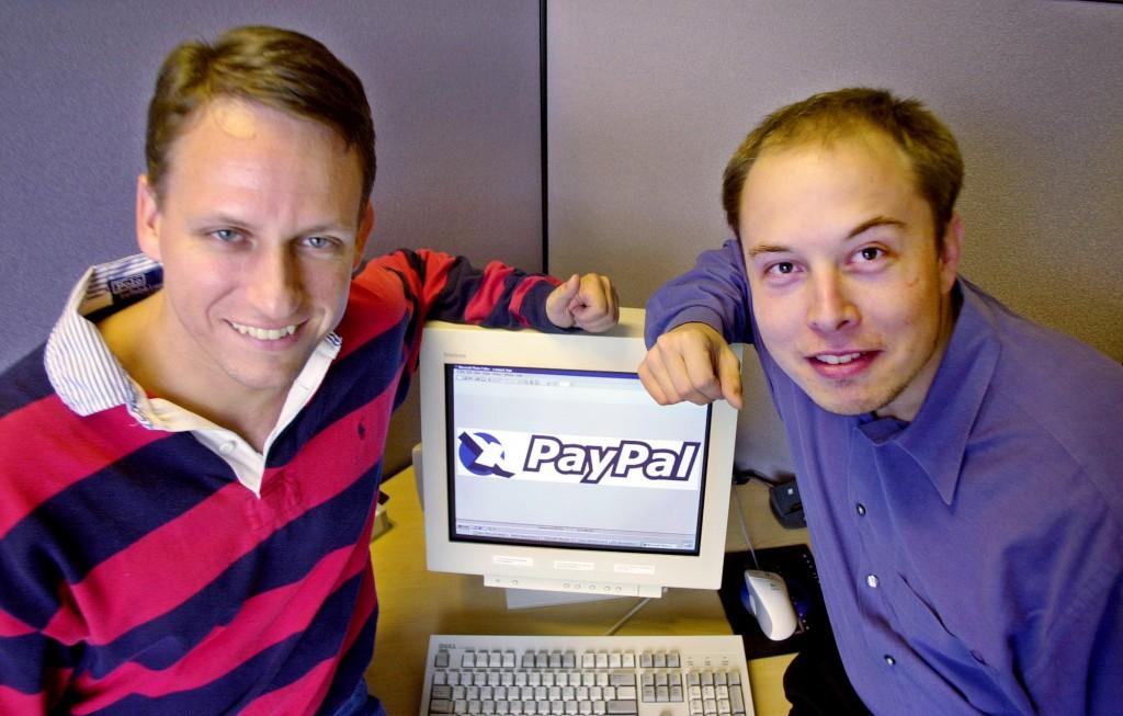 PayPali asutajad Peter Thiel ja Elon Musk (paremal) aastal 2000