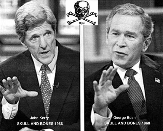 Skull & Bonesi liikmed John Kerry ja George W. Bush