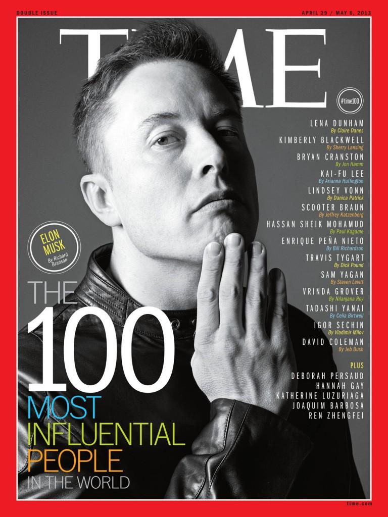 Elon Musk Time'i esikaanel