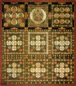 Jaapani budistliku Shingon koolkonna teemantmaailma mandala (9. sajand)