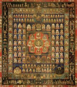 Jaapani budistliku Shingon koolkonna emaüsa mandala (9. sajand)