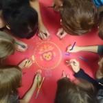 Ahviaasta mandala joonistamine Mandalaruumis