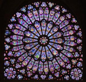 Notre Dame katedraali vitraažaken Pariisis