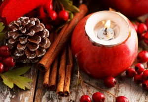 apple-red-candle-bump-cinnamon-sticks-berries-leaves-scenery-holiday-christmas-new-year-new-year-christmas