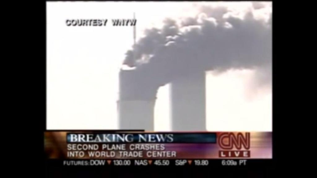 Ka CNNi videost kaob kokkupõrke hetkel pilt, ekraanile jäävad alles ainult logod