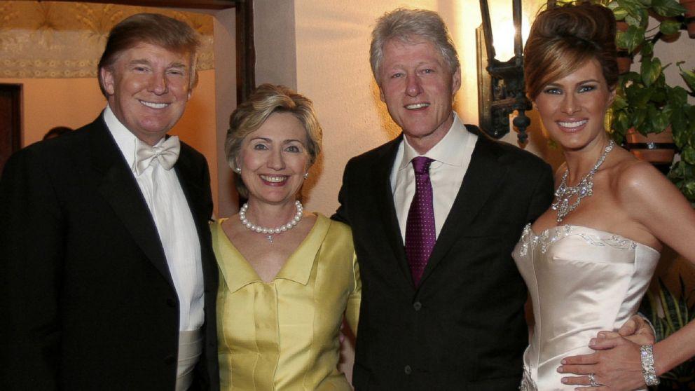 Trumpid ja Clintonid on suured sõbrad