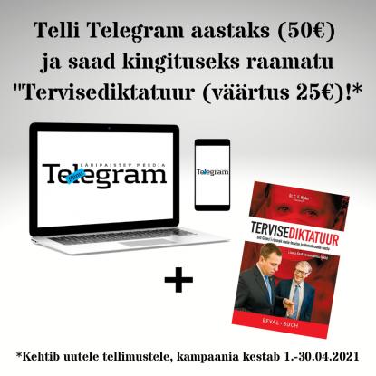 Minu Telegrami kampaania aprill 2021 popup