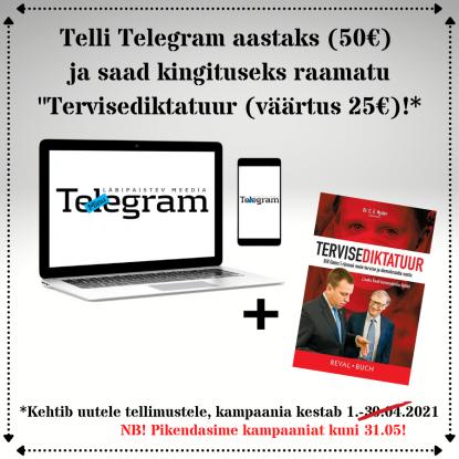 Minu Telegrami kampaania aprill/mai 2021 popup